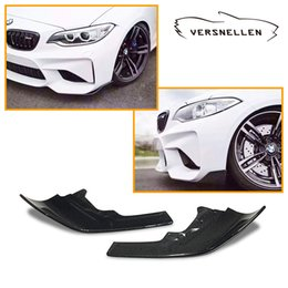 $enCountryForm.capitalKeyWord Australia - MP Style F87 Carbon Fiber Front Bumper Front Lip Skirt Front Corner Side Splitter Apron Flaps for BMW M2 F87 2014