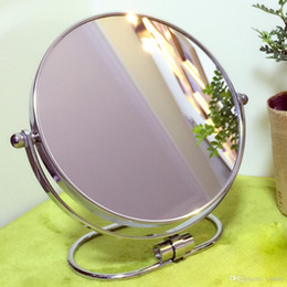 $enCountryForm.capitalKeyWord NZ - New 6-8inch Double side mirror 3X magnifying Folding desktop makeup mirror metal Portable Home Hotel Cosmetic Wall hanging Beauty mirror