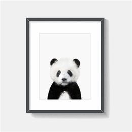 China The Panda bear Minimalist animal Canvas Poster Print Oil Painting Wall Picture Modern Kid Home Decoration cheap picture frames kids suppliers