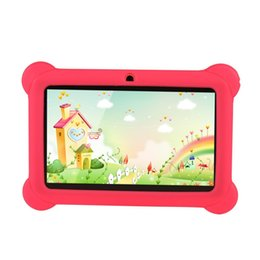 $enCountryForm.capitalKeyWord NZ - Kids Tablet PC 7 inch Children Tablet 512MB RAM 4GB ROM 1024*600 Quad Core 0.3MP Dual Camera Wifi Android 4.4 Silicone Cover