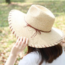 6acd0a1d 2019 new hot sale simple trend casual summer ladies sun hat Korean version  of straw hat outdoor big sunscreen sun beach