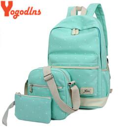 $enCountryForm.capitalKeyWord NZ - Yogodlns 3pcs set Casual Women Backpack Canvas Book Bags Preppy Style School Back Bags For Teenage Girls Composite Bag Y19051405