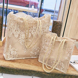 wedding bridal hand bags ladies handbags Australia - New Lace Ladies Handbag Summer Beach Wedding Bridal Party Hand Bag Bolsa Feminina Women's Shoulder Bag Shopping Bag