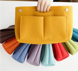 Cosmetic Bottle Bag Australia - New Felt Cosmetic Bags Multi Functional Inner Liner Speedy Bag Environmental Protection Can Be Customized Storage Package Colorful 13mzC1