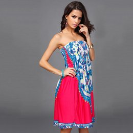 Hot silk kimono online shopping - 2019 Casual Dresses hot sale European and American breast wrap waist skirt stretch milk silk ice silk dress