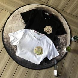 T shirT logos design online shopping - Luxurious Brand Design MC x Palm Angels Tshirt Short Sleeve Crewneck Tee Breathable Men Women Fashion Towel Logo Outdoor Streetwear T shirts