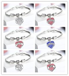 Diamond Love Heart Armband Mutter Tante Tochter Oma Glaube Hoffnung beste Freunde Kristall Armband Will und Sandy