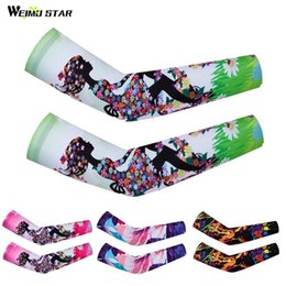 arm sleeve covers women Canada - Weimostar Cycling Arm Warmers Women Sun Protection Cycling Sleeve Cover Mountain Bike Compression Sleeve Golf Arm Protector