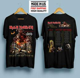 Fashion beast online shopping - new Iron Maiden Legacy Of The Beast Tour BlaHip hop T Shirt