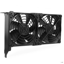 vga cooler fans NZ - Fans & Cooling YOUNUON Universal VGA Cooler Dual 90mm Ultra Quiet Desktop Computer Chassis PCI Graphics Card Double Fan Partner 9CM