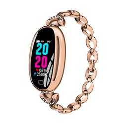 $enCountryForm.capitalKeyWord Australia - Fashion creative E68 sports smart watch ladies step by step waterproof sleep health monitoring Bluetooth hollow steel belt bracelet watch