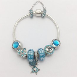 Wholesale New style DIYl blue floret of blue flower series of womenundefineds snakeundefineds hand chain