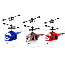 Children Toy Helicopter NZ - OCDAY Mini RC Infrared Induction Helicopter with Flashing Light USB Charging Intelligent Inductive Aircraft Children Toy