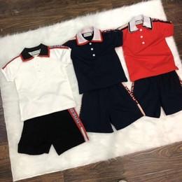 Venta al por mayor de Fen verano nueva moda para niños traje de manga corta cómodo y transpirable linda moda ronda insignia Z letra