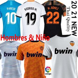 20 21 Valencia CF Футбол Джерси Rodrigo 2020 2021 Parejo KANG В Гамейро футбол рубашка GAYA Гуэдес C.SOLER Мужчины Дети Kit Одежда на Распродаже