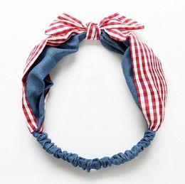 $enCountryForm.capitalKeyWord Australia - Girls polka dots Bows chiffon headbands fashion love heart printed princess hairbands for plaid stereo rabbit ear elastic headdress 8312