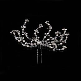 $enCountryForm.capitalKeyWord NZ - Fashion Handmade Gold Silver Pearl Crystal Wedding Bridal Bridesmaid Hair Pin Hair Accessory Jewelry Princess Hair Band Head Band