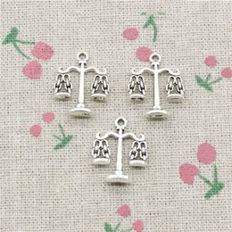 Scale Charms Australia - 58pcs Charms libra scales of justice 22*17mm Tibetan Silver Vintage Pendants For Jewelry Making DIY Bracelet Necklace