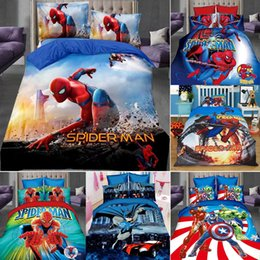 Neue 3 Stücke Tröster Cover Spiderman hero Baumwolle Bettwäsche Set Bettbezug Bett Einzelkissenbezug Sets im Angebot