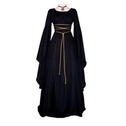 Red Cosplay UK - Halloween Vampire ghost Cosplay Dresses Victoria witches ladies Queen Fancy black dress cosplay costume 6 Colors S-2XL