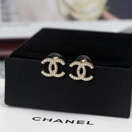 Wholesale letter Earring with box High quality women fashion Earring best gift free shipping 031301