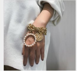 Platinum fish bracelet online shopping - Jewelry Crab Geometric Hollow Hand Jewelry Multilayer Pearl like Bracelet for Women