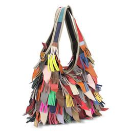 $enCountryForm.capitalKeyWord UK - Fashion Patchwork Top-handle Bags Designer Cattle Split Leather Bags Women Handbag Brand Ladies Shoulder Bags