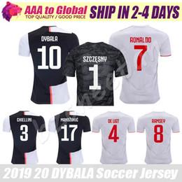 t shirt ronaldo 2019 - DYBALA jersey 19 20 Maglietta da calcio League RONALDO RAMSEY DE LIGT MANDZUKIC SOCCER JERSEY BUFFON Football Sweatshirt