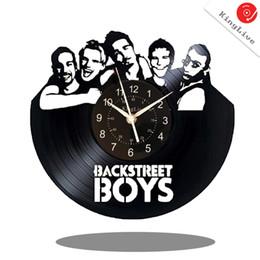 "$enCountryForm.capitalKeyWord UK - Backstreet Boys Vinyl Record Wall Clock Fan Art Handmade Decor Unique Decorative Vinyl Clock 12"" (30 cm)"