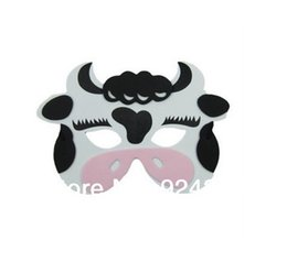 eva foam bags 2019 - KIDS ANIMAL MASK FOAM EVA FANCY DRESS PINNATA LOOT PARTY BAG FILLERS TOYS COW discount eva foam bags