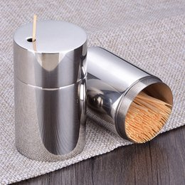 metal toothpick holders UK - Hot New Small Toothpick Holder Dispenser Storage Organizer Toothpick Holder for Kitchen Restaurant Tabletop