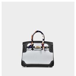 $enCountryForm.capitalKeyWord Australia - Charm2019 Leather Genuine Lace Edge Litchi Grain Collision Handbag Single Shoulder Messenger Woman Package