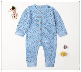 $enCountryForm.capitalKeyWord NZ - Baby kids designer clothes girls Boy romper Knitted Hollow Out Soft Long Sleeve Romper infant girl Spring England Style romper