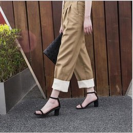 $enCountryForm.capitalKeyWord Australia - New type of ladies sandals with open toes, thick heels, square head and Euro-American style