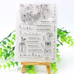 $enCountryForm.capitalKeyWord Australia - PP CRAFT Thinking OF You Transparent Clear Silicone Stamps for DIY Scrapbooking Card Making Kids Fun Decoration Supplies 290 YPP CRAFT Th...