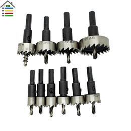 $enCountryForm.capitalKeyWord UK - Tools Drill Bit New 10PC 12-40mm HSS Hole Saw Cutter Tooth Kit HSS Steels Drill Bit Set Tool For Wood Metal Alloy