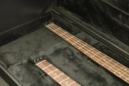 $enCountryForm.capitalKeyWord NZ - Top Quality Double Neck Headless Electric Bass & Guitar Flamed Maple Veneer Black Color Free Shipping