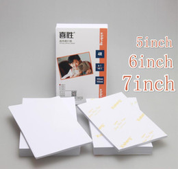 glossy photo papers UK - 2020 New 100pcesa4 Photo Paper 5 6 7 Inch Photo Paper Glossy Printing Color Home Printing