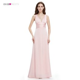 6b87b0779b Evening Dress Ever Pretty EP09008 A-line Double V-neck Sleeveless Elegant  Evening Dresses Long Formal Party Dresses for Women D18122903