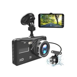 "camera rearview mirror full hd UK - 4.0"" touch screen car DVR car video recorder 2Ch vehicle dash cam full HD 1080P 170 degrees wide view angle night vision"