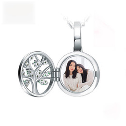 $enCountryForm.capitalKeyWord Australia - Strollgirl 925 Sterling Silver Engraved Family Tree Of Life Photo Locket Necklaces Custom Necklaces & Pendants for women Jewelry