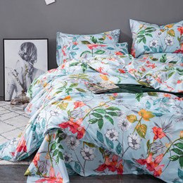 $enCountryForm.capitalKeyWord Australia - Soft cozy Duvet Cover Set 3PC Comforter Cover Set beautiful flowers printing bedding set Hotel Quality