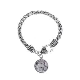 Lobster Claw Necklace Australia - lemegeton New Design Newest Fahion Vintage Animal Jewelry Unicorn Wolf Eagle Pegasus Horse Pendant Necklace For woman men Gift