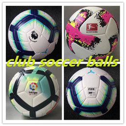 Footballs ball online shopping - 2018 Premier la liga Bundesliga soccer balls Merlin ACC football Particle skid resistance game training Soccer Ball size
