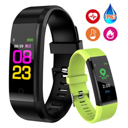 Smart Watch Brown Australia - Wrist Band Bracelet Fitness Heart Rate Blood Pressure Pedometer Sports Wristband Smart Watch Men Women For IOS Android C19010301