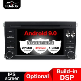 car dvd unit UK - Android 9.0 Car DVD Player GPS navigation For Porsche Cayenne 2004-2010 multimedia Audio player head unit tape recorder maps