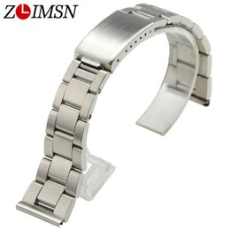 19mm watch bracelet Australia - ZLIMSN Stainless Steel Watchbands Replacement Silver 18mm 19mm 20mm Brushed Sport Watch Bracelets Flat End Deployment Clasp