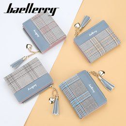 $enCountryForm.capitalKeyWord Australia - New Women's Wallets Tassel Cute Fashion Purse Leather Short Zip Wallet Coin Card Holder Soft Leather Phone Card Female Clutch