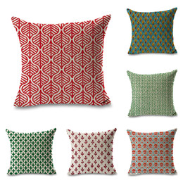 $enCountryForm.capitalKeyWord Australia - Watercolor Indian Geometric Pattern Throw Massager Pillow Case Decorative Pillows Warm Home Decor Vintage Gift