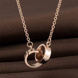 white christmas rose 2019 - Designer Jewelry LOVE Necklace Plated 18K Gold Screw Necklace with Rose Gold Platinum Luxury Woman love gift 2 styles di